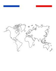 tatouage carte du monde poignet temporaire