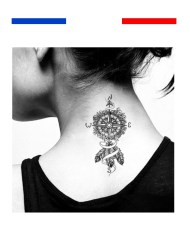 tatouage rose des vents femme