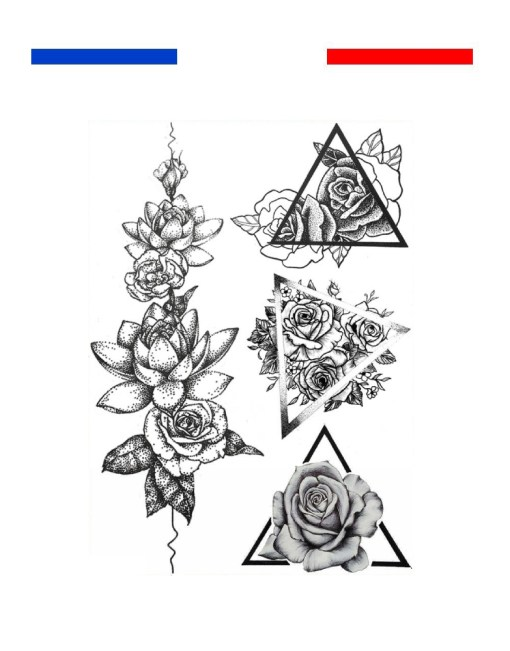 Tatouage Roses Dotwork