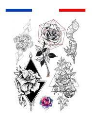Tatouage Roses Symétriques