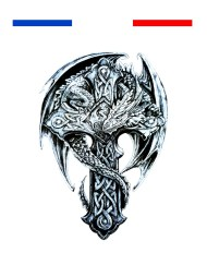 Tatouage croix viking dragon