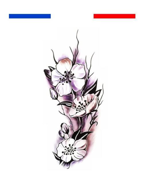 Tatouage orchidée femme fleur