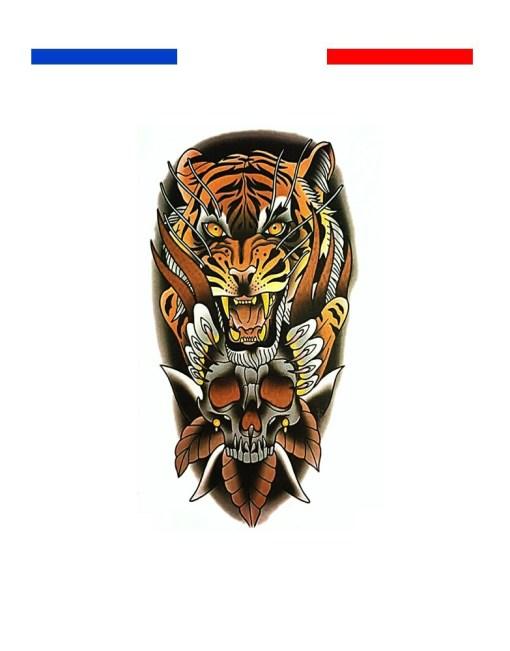 Tigre old school tradi skull
