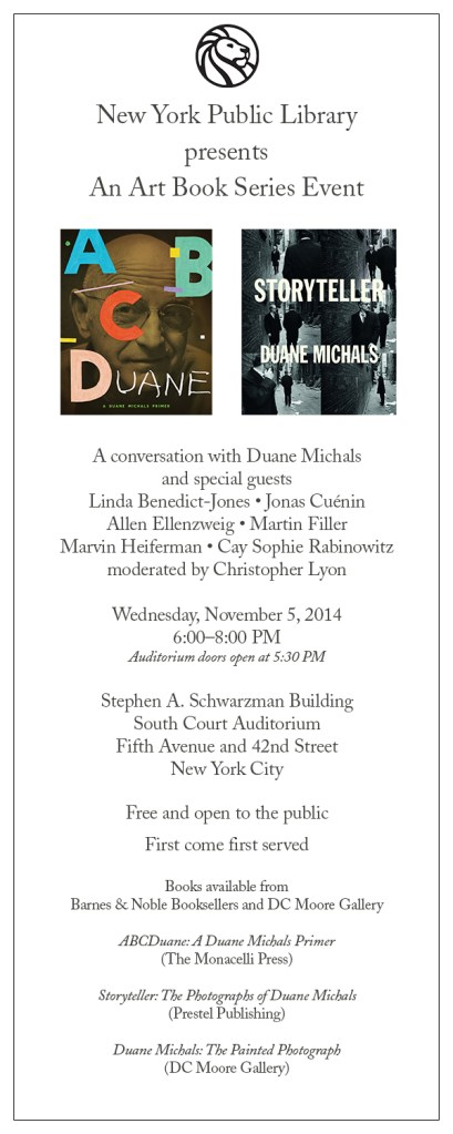 Duane Michals at New York Public Library