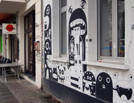 Les murs aux alentours de la Boxhagener Platz