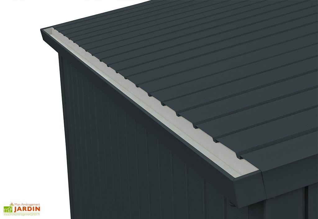 abri de jardin en acier galvanise duramax modern 5 m gris anthracite