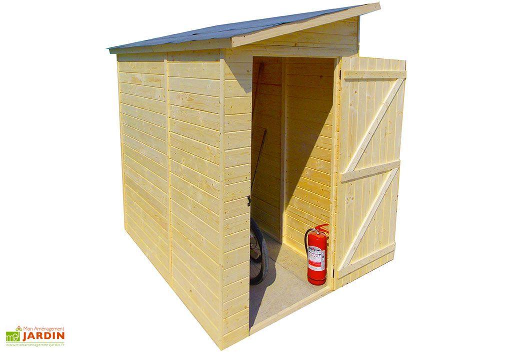 abri de jardin adosse en bois 16 mm 223 x 130 x 220 cm