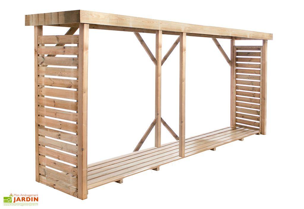 abri range buche en bois traite 3 8 m dallas xxl
