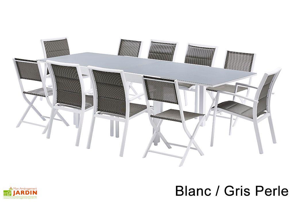 salon de jardin modulo table extensible 6 fauteuils 4 chaises
