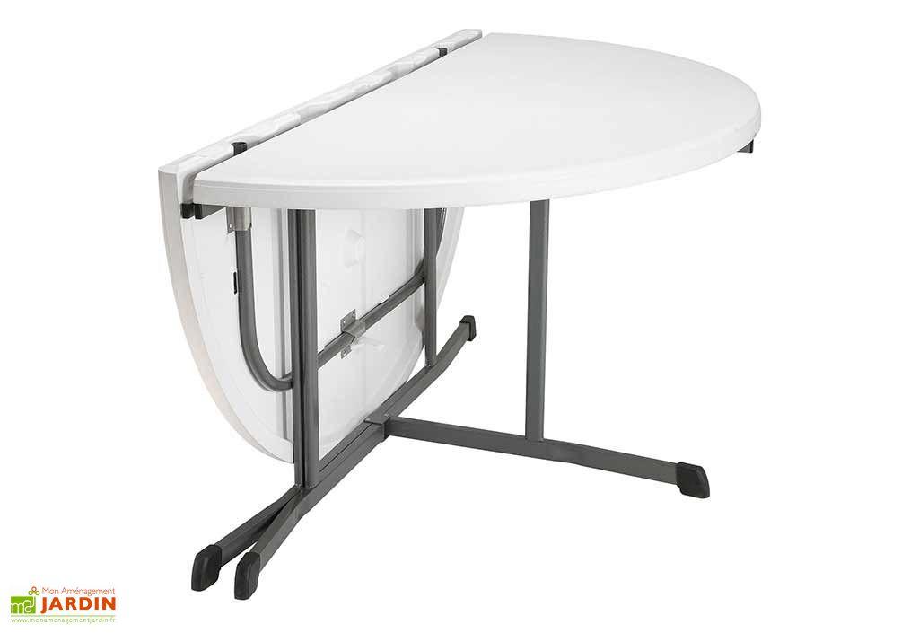 lot de 12 tables rondes pliantes en resine lifetime d152 cm