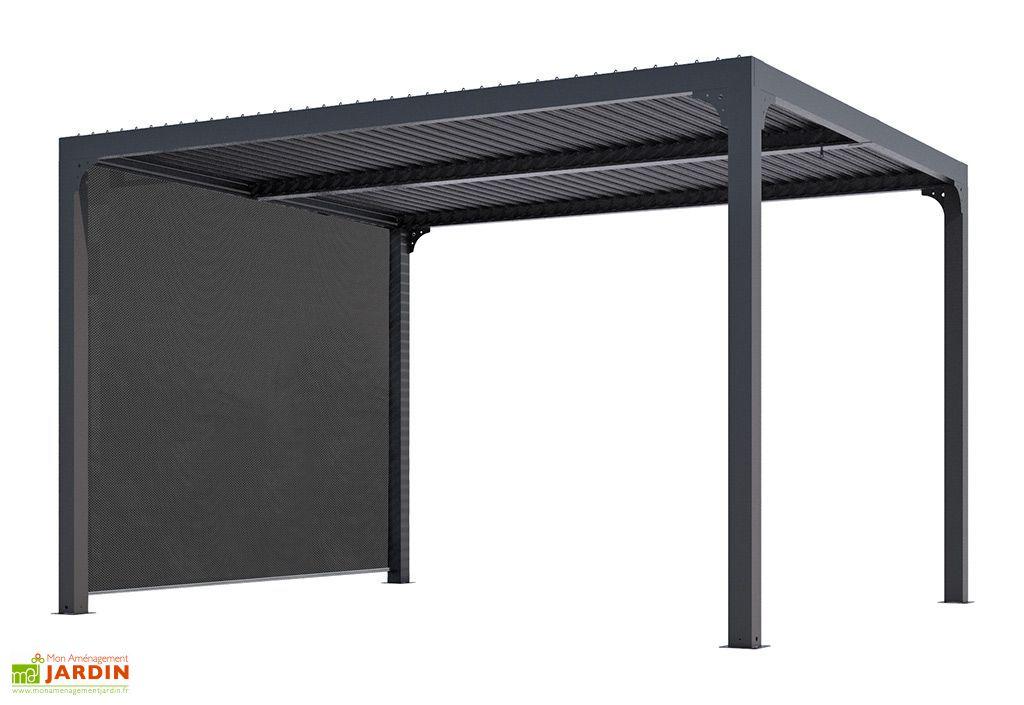 pergola bioclimatique lames orientables 11 m rideau store lateral