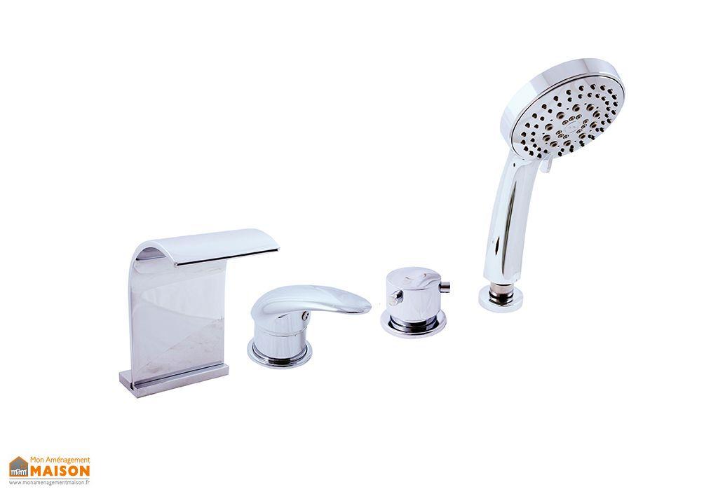 mitigeur baignoire avec cascade en chrome danube d467 p