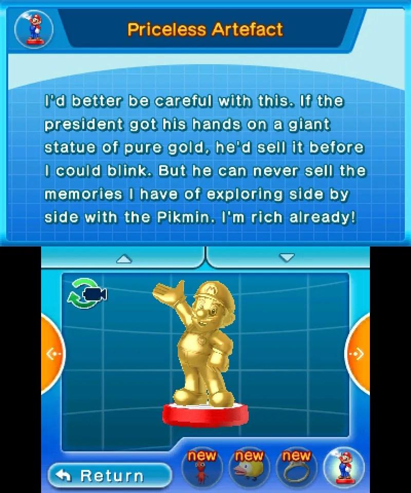 Hey! Pikmin - Gold Mario amiibo