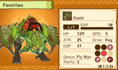 Monster Hunter Stories amiibo Monster - Rathi