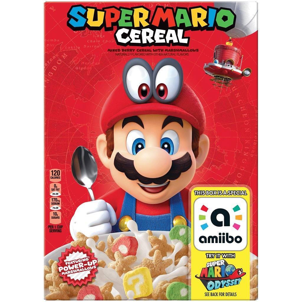 Kelloggs Super Mario Cereal amiibo