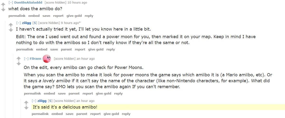 Super Mario Odyssey Cereal amiibo Functions