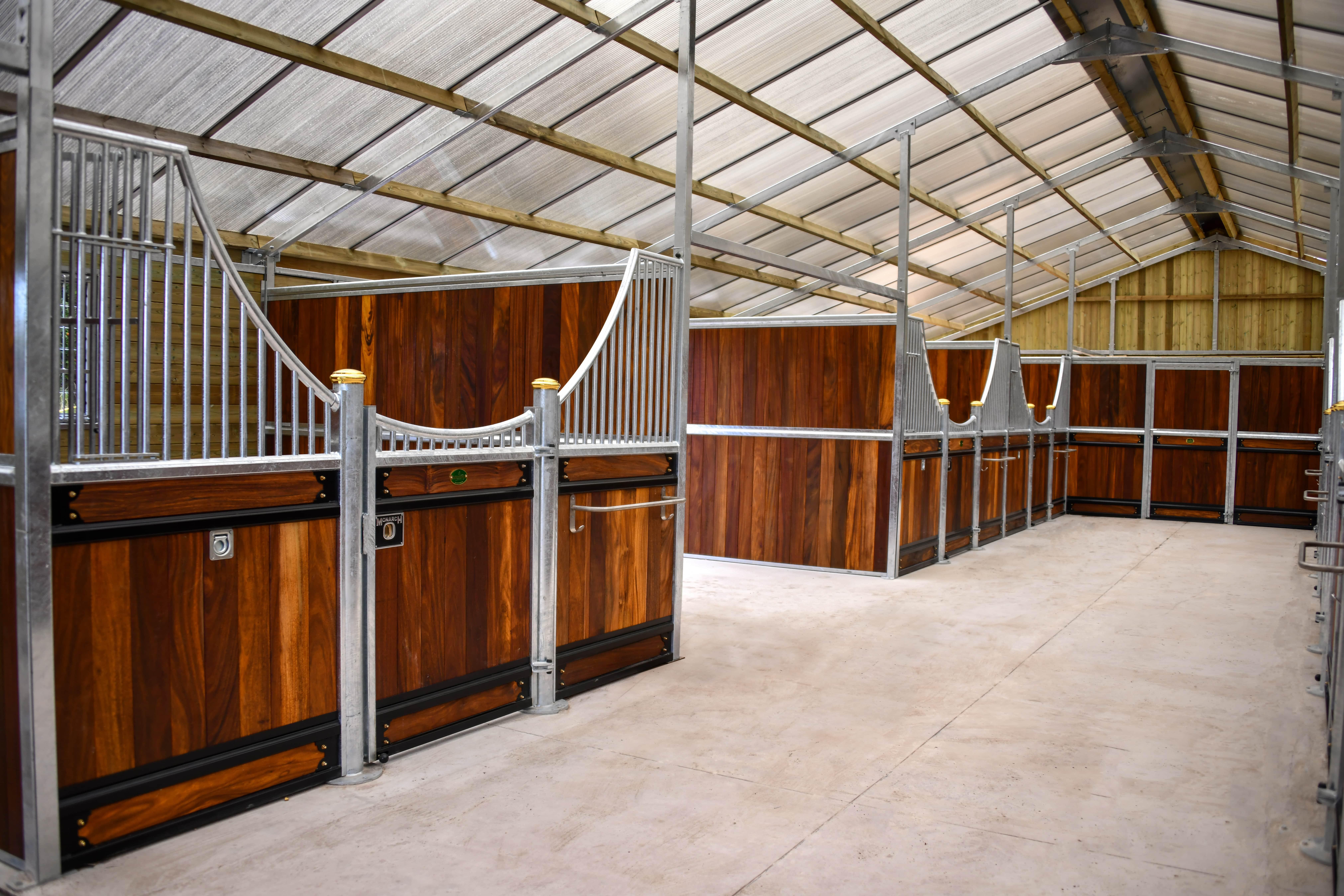 Standard Size Majestic Victorian Hardwood Stables Inside a Monarch Barn