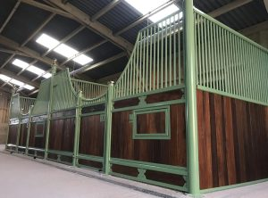 Monarch Equestrian Sage Green powder coated Majestic Victorian stables
