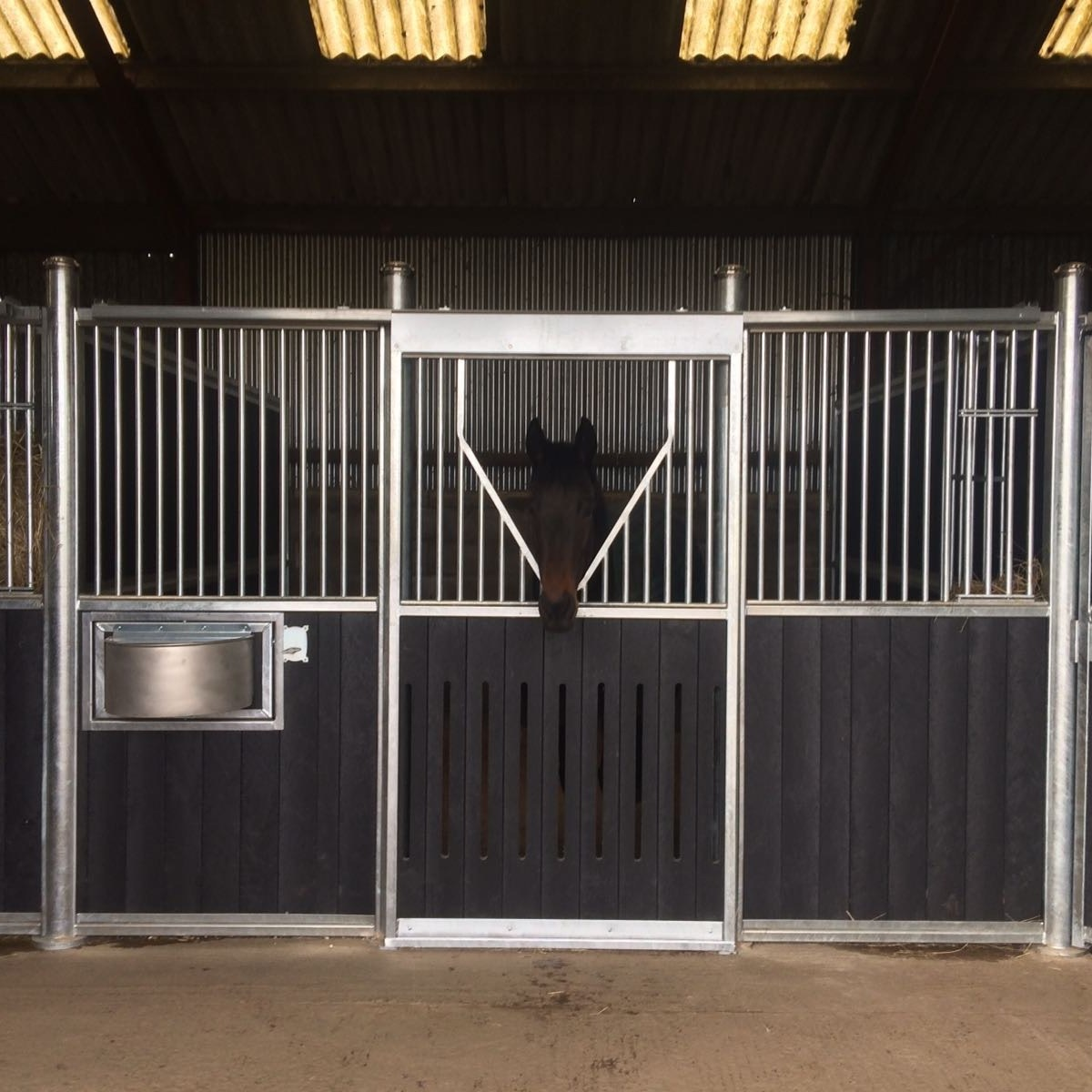 Black Plastic Internal Stables by Monarch Equestrian