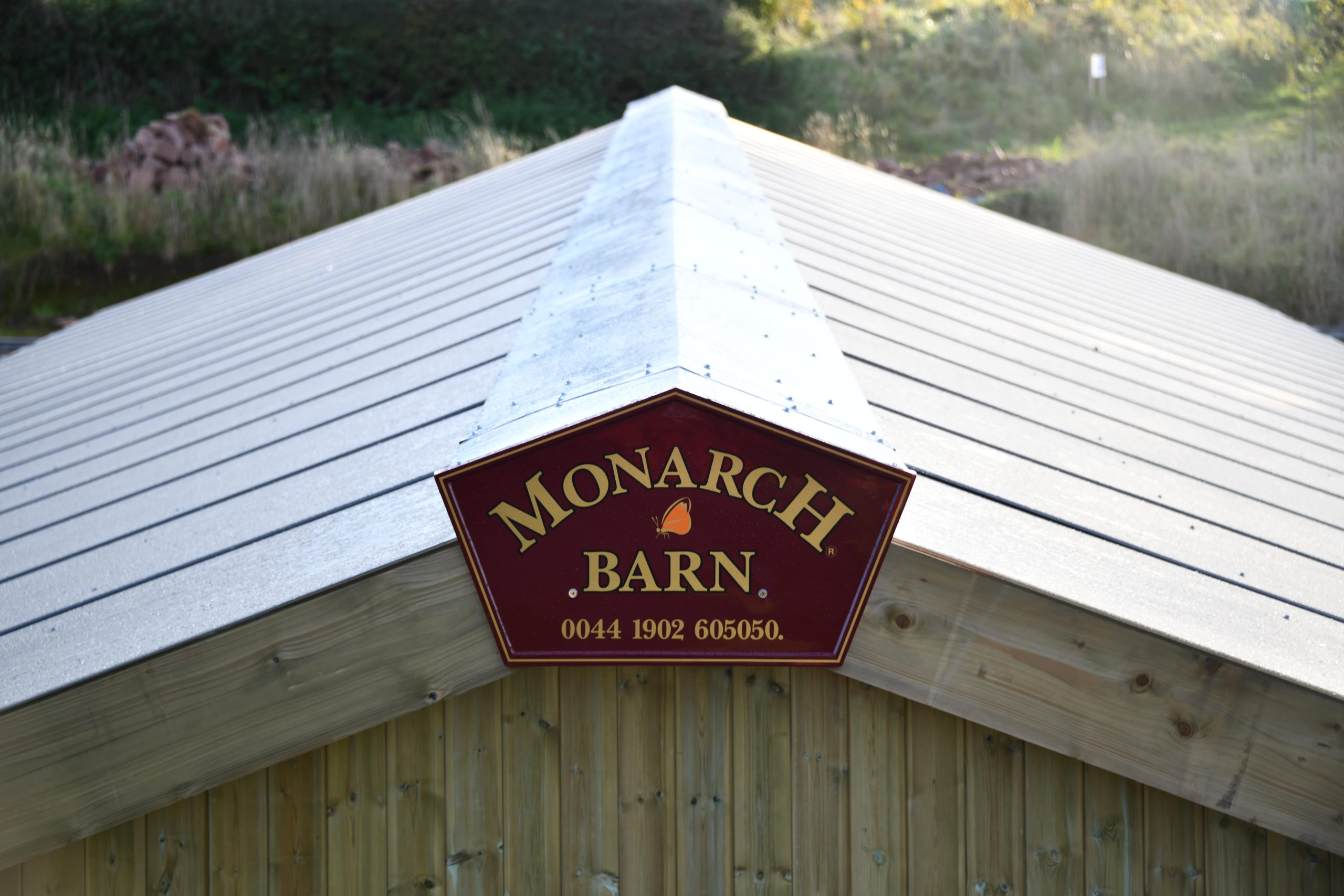 Monarch barn with polycarbonate roof by Monarch Equestrian