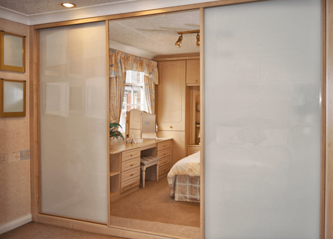 Easyglide in Maple with Clear Mirror and Soft White Glass