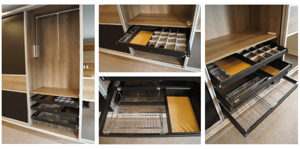 Baskets, Trays, Jewellry Divider, and Pull Down Rail
