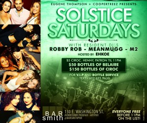 Solstice Saturdays - 21+ @ Bar Smith | Phoenix | Arizona | United States