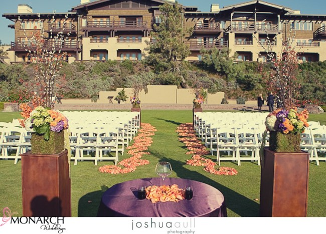 Lodge-at-torrey-pines-orange-and-purple-rustic-wedding