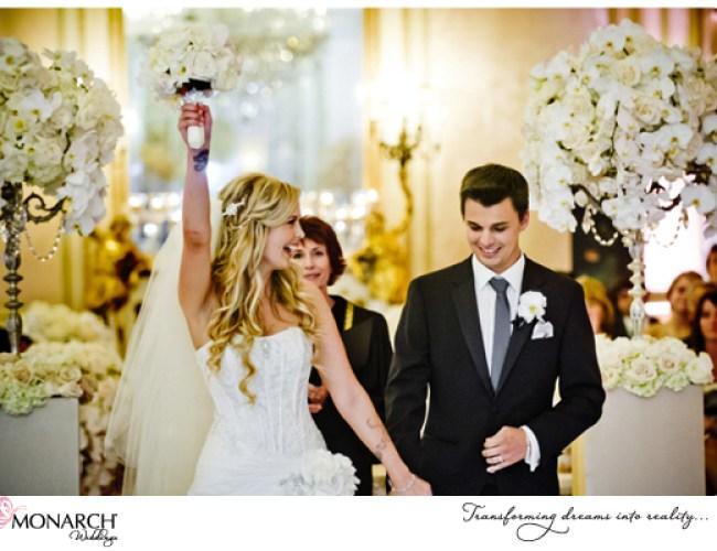 Ceremony-shot-orchids-blush-french-vintage-wedding-westgate-hotel