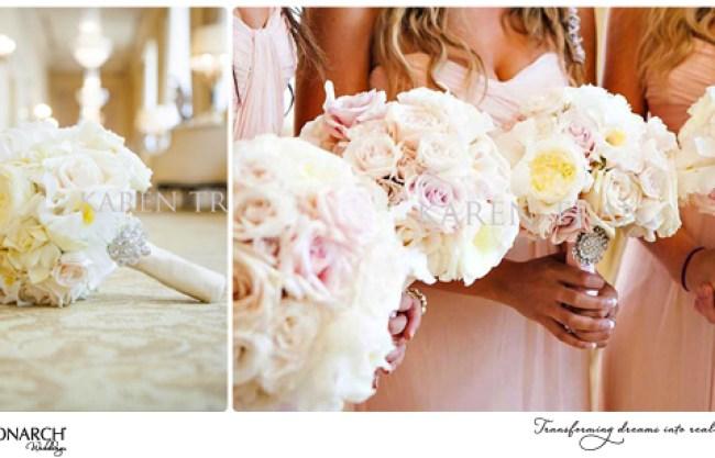 Bridal-bouquet-blush-bridesmaids-bouquets-westgate-hotel