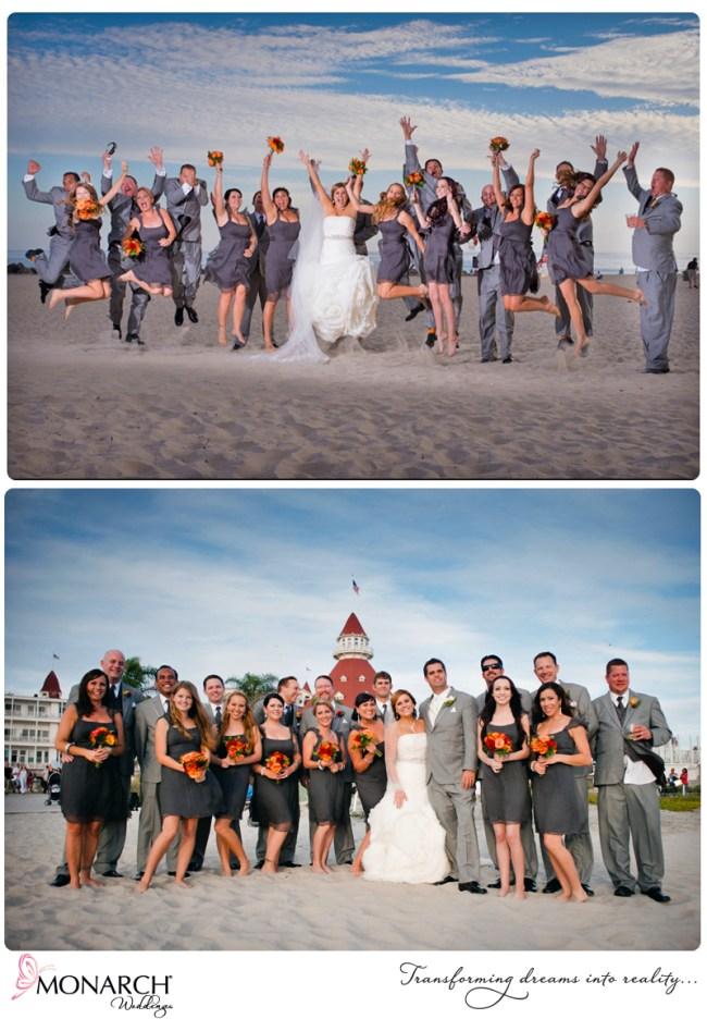 Orange-gray-wedding-bridal-party-photos-at-hotel-del-beach