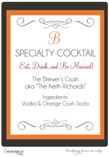 Orange-gray-red-wedding-specialty-cocktail-sign