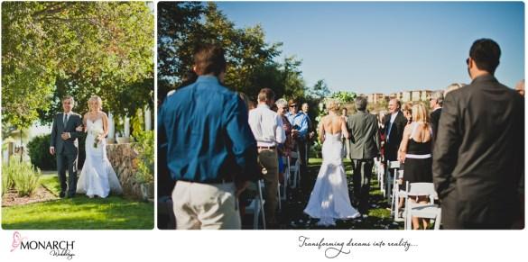 Rustic-chic-wedding-del-sur-ranch-house-bride-at-ceremony