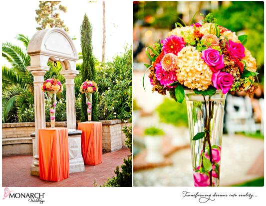 Prado-Balboa-Park-Coral-Pink-Tropical-Wedding