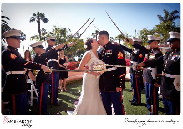 La-Valencia-Hotel-Garden-Ceremony-Military-Sword-Arch-Ceremony