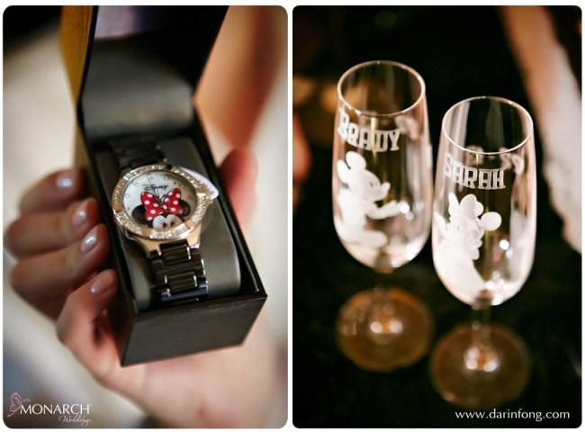 Disney-watch-Disney-toasting-glasses-la-valencia-wedding