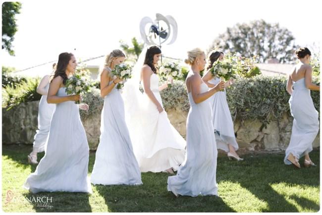 Garden-Chic-Rustic-Wedding-Powder-Blue-Bridesmaids-Dresses