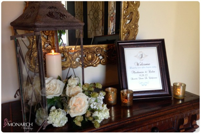 Garden-Chic-Rustic-Wedding-Lanterns-Welcome-Sign