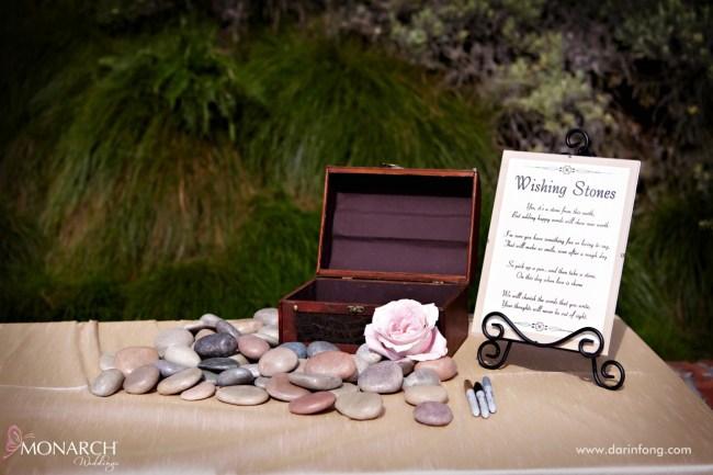 Lodge-at-Torrey-pines-wedding-river-rocks-wishing-stones-at-ceremony