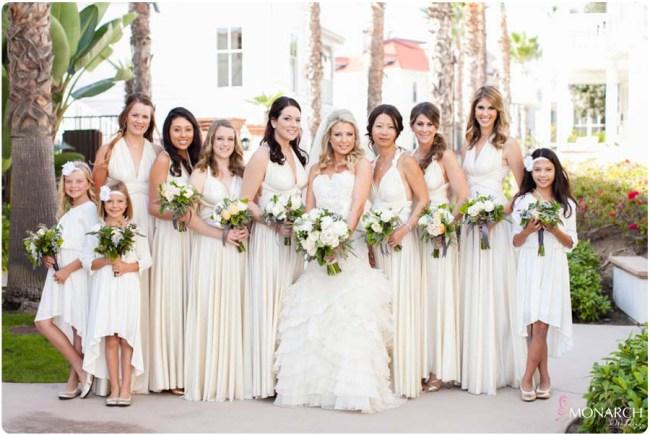 Ivory-bridesmaids-dress-hotel-del-coronado-wedding