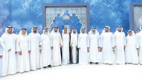 حمدان ومكتوم بن محمد يحضران أفراح المنصوري