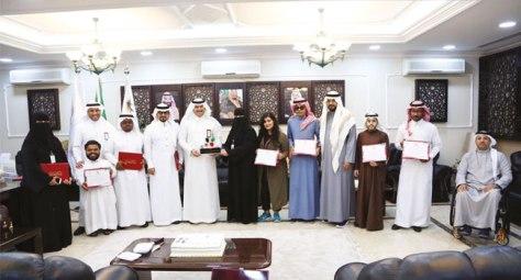 تكريم وفد المملكة لذوي الإعاقة بالكويت