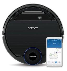 ECOVACS DEEBOT OZMO 930 – Aspirateur robot 2 en 1 pour sols durs et tapis – Aspirateur nettoyeur sans fil – Programmable via smartphone et compatible avec Amazon Alexa