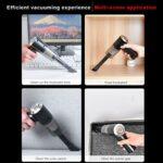 Atyhao Mini aspirateur, Brosse d'aspirateur sans Fil Portable pour tiroir à Clavier Autres crevasses Petits espaces