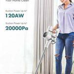 Dreame T10 Aspirateur Balai sans Fil, 120aw 20kPa Forte Aspiration, 60min Batterie Courir, 99,97% Efficacité de Filtration, Tout-en-Un Aspirateur de Sol pour Dépoussiéreur