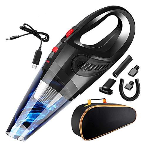 Haute qualité Aspirateur sans Fil d'aspirateur de Batterie 5500Pa pour l'aspirateur de Voiture Portable Nettoyeurs de Vaccum sans Fil pour Voiture, Maison (Color : Black)