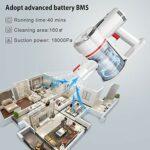VOSFEEL Z10 Aspirateur Balai sans Fil sans Sac Puissant 18000PA 170W 4 en 1 avec LED pour Maison Bureau Voiture (170W)