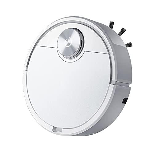 DAODE Aspirateur robot, contrôle par application, capteur optique, aspiration, 1500 Pa, brosse à poils d'animaux et à poussière, nettoyage intelligent (blanc)