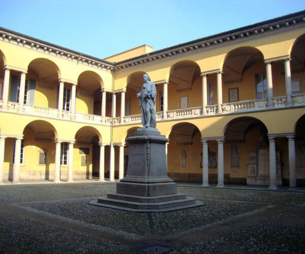 Palazzo dell'Università, Cortile di Volta - Il Cortile dei Giuristi, oggi Cortile di Volta, nel rifacimento seicentesco dell'architetto Giovanni Ambrogio Pessina