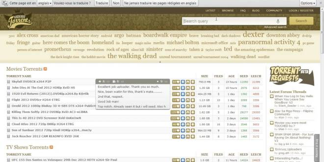 KickAss Torrents (KAT)- Les meilleurs sites de torrent